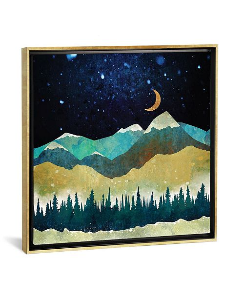 "iCanvas Snow Night by Spacefrog Designs Gallery-Wrapped Canvas Print - 18"" x 18"" x 0.75"""