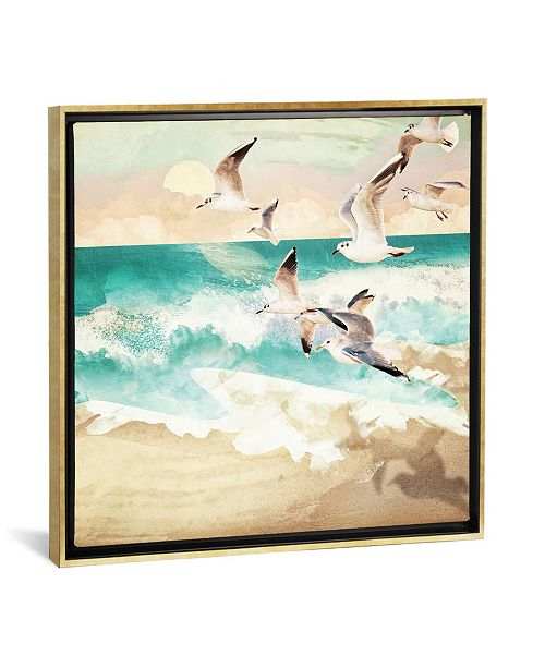 """iCanvas Summer Flight by Spacefrog Designs Gallery-Wrapped Canvas Print - 26"""" x 26"""" x 0.75"""""""