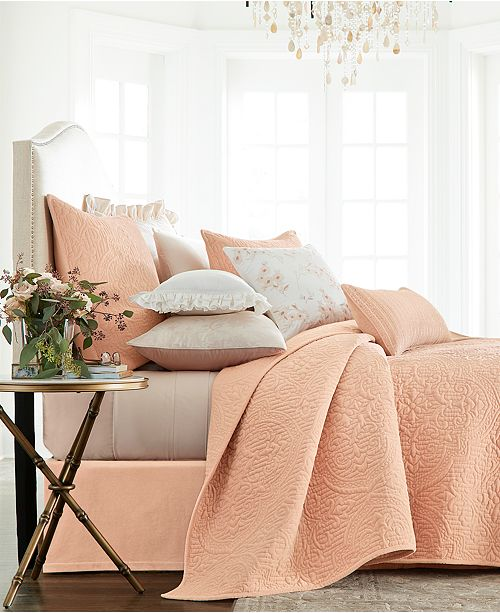 Hotel Collection Classic Roseblush Full/Queen Coverlet, Created for Macy's
