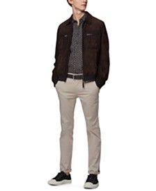 BOSS Men's Joast Slim-Fit Biker Jacket