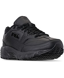 Fila Men's Memory Workshift Slip Resistant Wide Width Work Sneakers from Finish Line