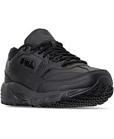 Fila Men's Memory Workshift Slip Resistant Wide Width Work Sneakers from Finish Line