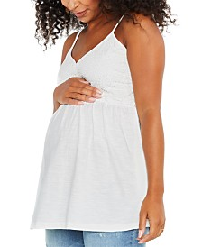 Motherhood Maternity Eyelet Babydoll Blouse