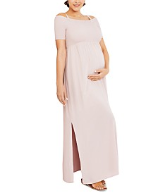 Seraphine Maternity Off-the-Shoulder Maxi Dress