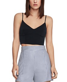 BCBGMAXAZRIA Satin Crop Top