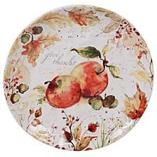 Harvest Splash Round Platter