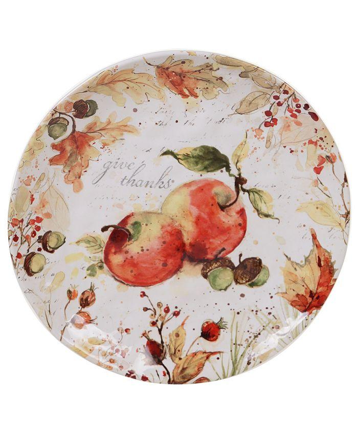 Certified International - Harvest Splash Round Platter