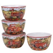 Certified International Harvest Bounty Ice Cream Bowl, Set of 4