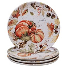 Certified International Harvest Splash Dinner Plate, Set of 4