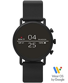 Falster 2 Black Silicone Strap Touchscreen Smart Watch 40mm, Powered by Wear OS by Google™
