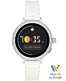 Women's Scallop 2 White Silicone Touchscreen Strap Watch 41mm, Powered by Wear OS by Google™