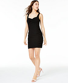 Trixxi Juniors' Ruched Bodycon Dress