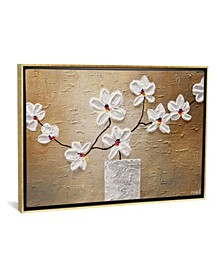 """White Orchid by Osnat Tzadok Gallery-Wrapped Canvas Print - 18"""" x 26"""" x 0.75"""""""