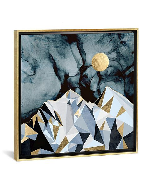 "iCanvas Midnight Peaks by Spacefrog Designs Gallery-Wrapped Canvas Print - 18"" x 18"" x 0.75"""