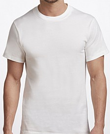 Premium Cotton Men's 2 Pack Crew Neck Undershirt