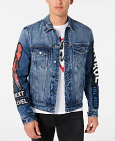 GUESS Men's Denim Concert Jacket