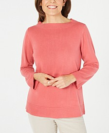 Petite Boatneck Sweater, Created for Macy's