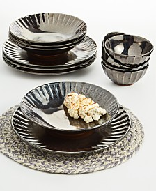 Lucky Brand Graphite 12-Pc. Dinnerware Set, Service for 4