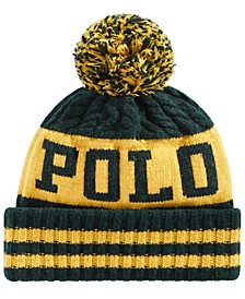 Men's Aran Cuffed Pom Pom Hat