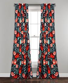 """Poppy Garden Room Darkening 95""""x52"""" Window Panel Set"""