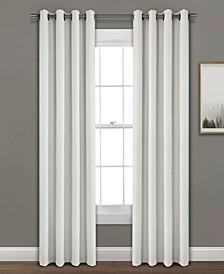 """Faux Linen 95""""x52"""" Absolute Blackout Single Window Panel"""