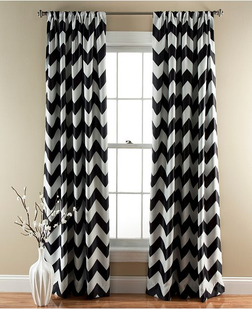 "Lush Decor Chevron 84""x52"" Window Curtain Set"