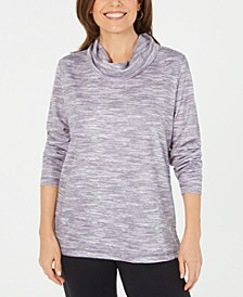 Sport Space-Dyed Cowlneck Top, Created for Macy's