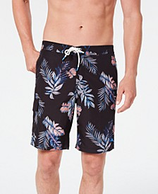 "Men's Baja Frond Mist 9"" Palm-Print Board Shorts"
