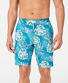 "Men's Baja Canyon Leaves Palm-Print 9"" Board Shorts"