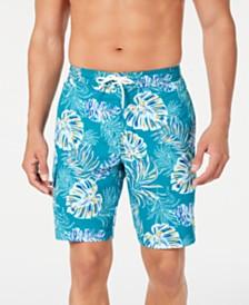 "Tommy Bahama Men's Baja Canyon Leaves Palm-Print 9"" Board Shorts"
