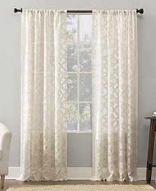 "Suite 918 Yvette Trellis Jacquard Sheer Rod Pocket Curtain Panel, 52"" W x 95"" L"