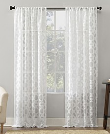 Yvette Trellis Jacquard Sheer Curtain Collection