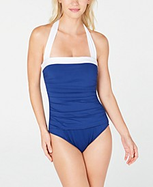 Bel-Air Tummy-Control Ruched Halter One-Piece Swimsuit