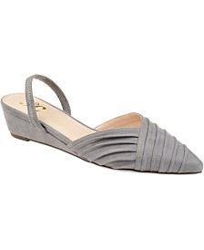 Journee Collection Women's Kato Sliver Wedges