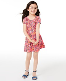 Epic Threads Little Girls Printed Bow-Back Dress, Created for Macy's