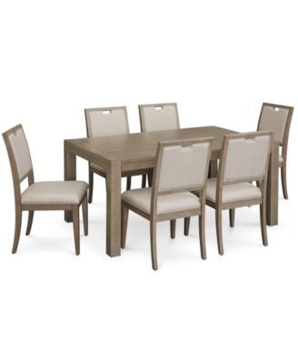 Melbourne Dining Furniture, 7-Pc. Set (Expandable Table & 6 Side Chairs)