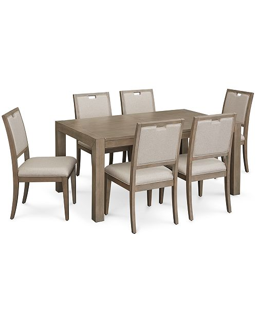 Magnificent Melbourne Dining Furniture 7 Pc Set Expandable Table 6 Side Chairs Customarchery Wood Chair Design Ideas Customarcherynet