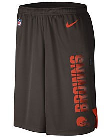 Nike Men's Cleveland Browns Player Knit Breathe Shorts