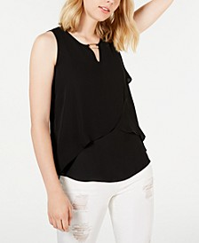 Juniors' Layered Asymmetrical Tank Top
