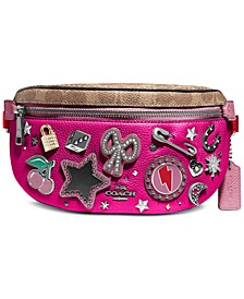 Souvenir Pins Leather Belt Bag