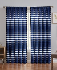 "Truly Soft Maddow Stripe Window Curtain, 50""x84"""