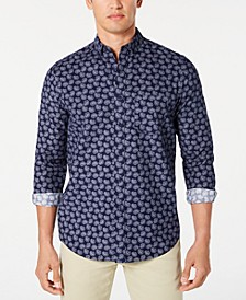 Men's Paisley-Print Corduroy Shirt, Created for Macy's