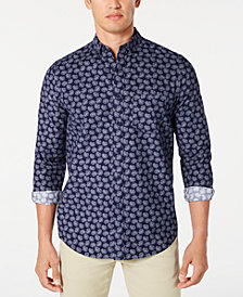 Club Room Men's Paisley-Print Corduroy Shirt, Created for Macy's