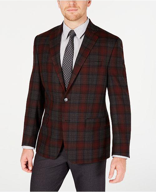 Lauren Ralph Lauren Men's Classic-Fit Red Plaid Suit Separates
