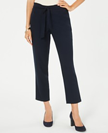 Style & Co Petite Tie-Waist Pants, Created for Macy's