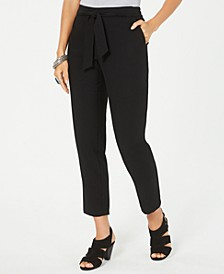 Tie-Waist Tapered Pants, Created for Macy's