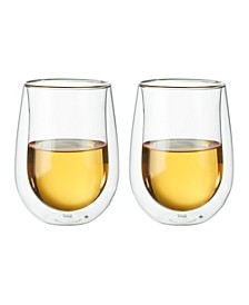 ZWILLING Sorrento Stemless White Wine Glass, Set of 2