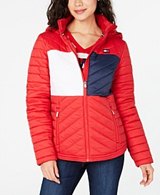 Flag Hooded Puffer Jacket
