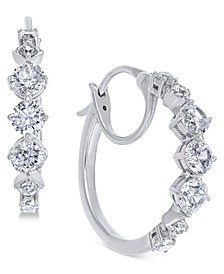 Danori Cubic Zirconia Small Hoop Earrings, Created for Macy's 3/4""