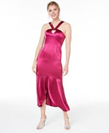 Aidan by Aidan Mattox Liquid Satin Dress